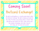 Postcard Exchange Banner and Coming Soon Sign (FREEBIE)