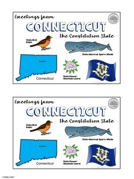 State Postcard Connecticut