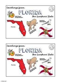 State Postcard Florida