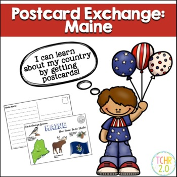 State Postcard Maine