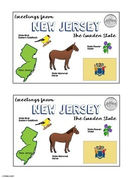 State Postcard New Jersey