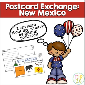 State Postcard New Mexico