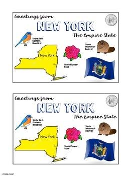 State Postcard New York
