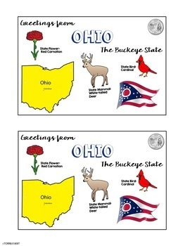 State Postcard Ohio