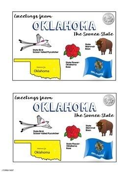 State Postcard Oklahoma