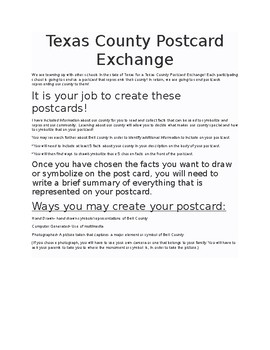 Postcard Exchange Project