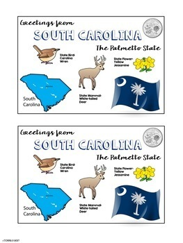 State Postcard South Carolina