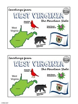 State Postcard West Virginia