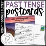 Postcard Past Tense Verbs for Regular and Irregular Verb Practice