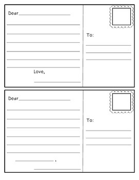 Postcard Template By Christin McNaughton Teachers Pay Teachers - Postcard template with lines