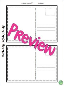 Postcard Templates-Any subject, any grade!