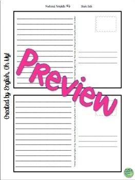 Postcard Templates-Any subject, any grade!