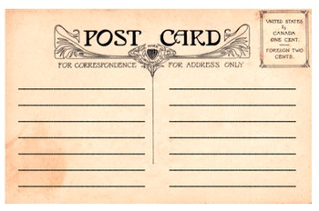 Postcard - blank