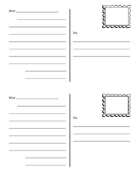 Postcard template by teaching for tomorrow teachers pay for Postcard template for pages