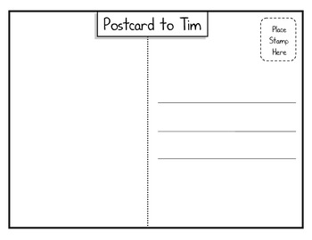 Postcard to Tim:  Common Core ELA Module One Grade 4