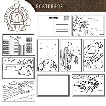 Postcards Clip Art
