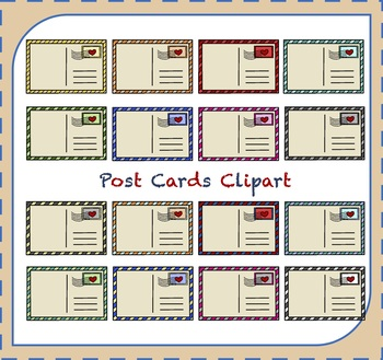 Postcards Clipart / Mail Clipart / Travel Clipart