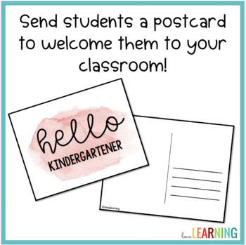 Postcards: Welcome Students to Your Classroom!