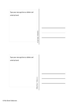 Postcards for Back To School 5th Grade