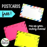 Postcards for Free Write Choices {FREEBIE!}