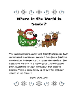 Postcards from Santa Social Studies Activities