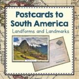 South America Unit Study: Postcards of South America Landm