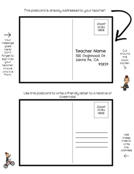 Postcards to Your Teacher (Editable Google Slides)
