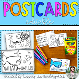 Postcards to students - Distance Learning - Freebie