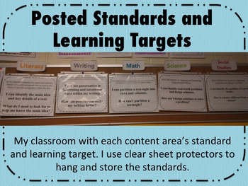 Posted Standards Freebie