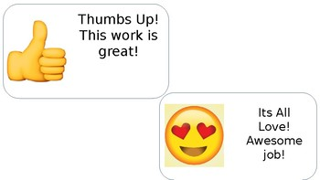Posted Work Emoji Tags