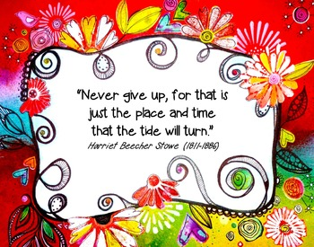 """Poster: 11x14 """"Never Give Up"""""""