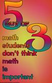 Poster #326 Funny, Motivational Math Poster Motivate Evem