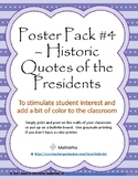 Poster 8-Pack #4 - Quotations of US Presidents - Inspirati