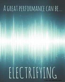 Poster - A Great Performance Can Be Electrifying