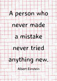 Poster A person who never made a mistake