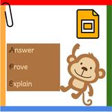 Poster: APE (Answer, Prove, Explain)