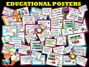 BACK TO SCHOOL -  Educational Posters