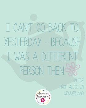Poster: Alice in Wonderland Quote