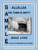 Easter Poster - Alleluia The Tomb is Empty Jesus Lives -  Print & Go!
