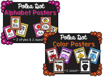 Poster BUNDLE (Alphabet, Numbers, Shapes, & Colors) - Polka Dot
