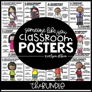 Poster BUNDLE [someone who] Scientist, Mathematician, Read