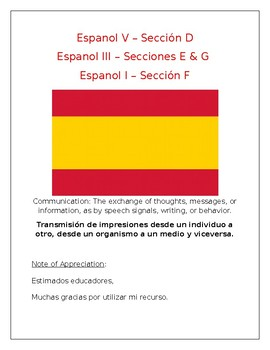 Poster - Back To School: Welcome to Spanish Class