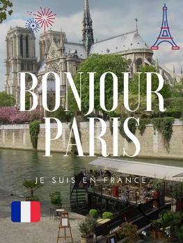 """Poster """"Bonjour Paris"""""""