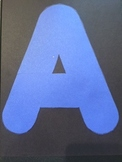 Printable Large Alphabet Letters for Banners, Bulletin Boards and Alphabet Books