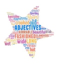 Poster Bulletin Board Display Word Wall- Adjectives, Gramm