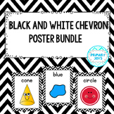 Poster Bundle - Black and White Chevron