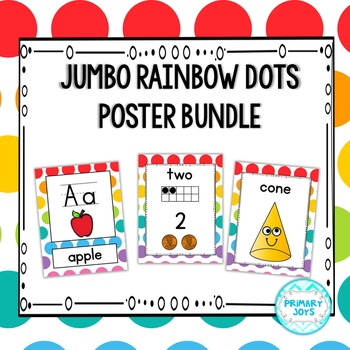 Poster Bundle - Jumbo Rainbow Dots