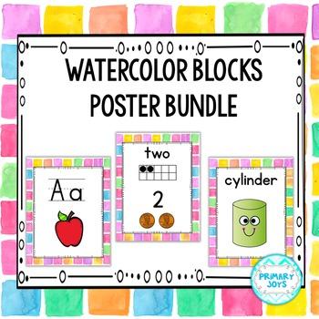 Poster Bundle - Watercolor Blocks