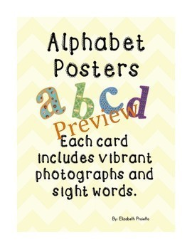 Posters Bundle- shapes, numbers, and alphabet