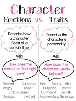 Poster: Character Emotions vs. Character Traits